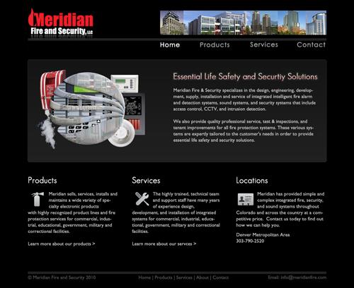 meridianfire.com screenshot
