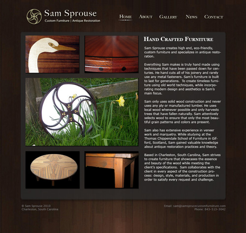 Sprousecustomfurniture.com screenshot