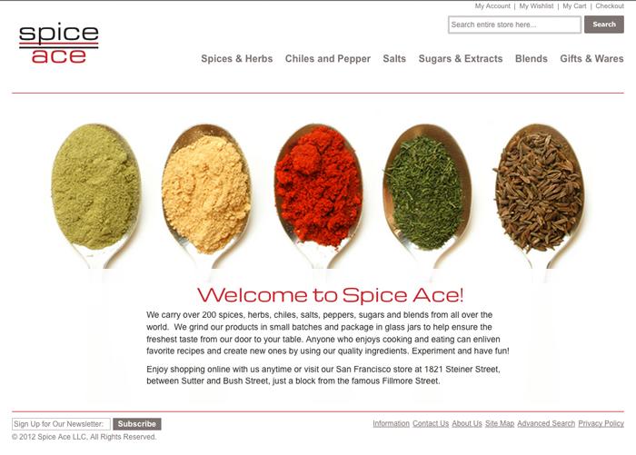 spiceace.com screenshot