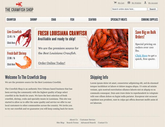 thecrawfishshop.com screenshot