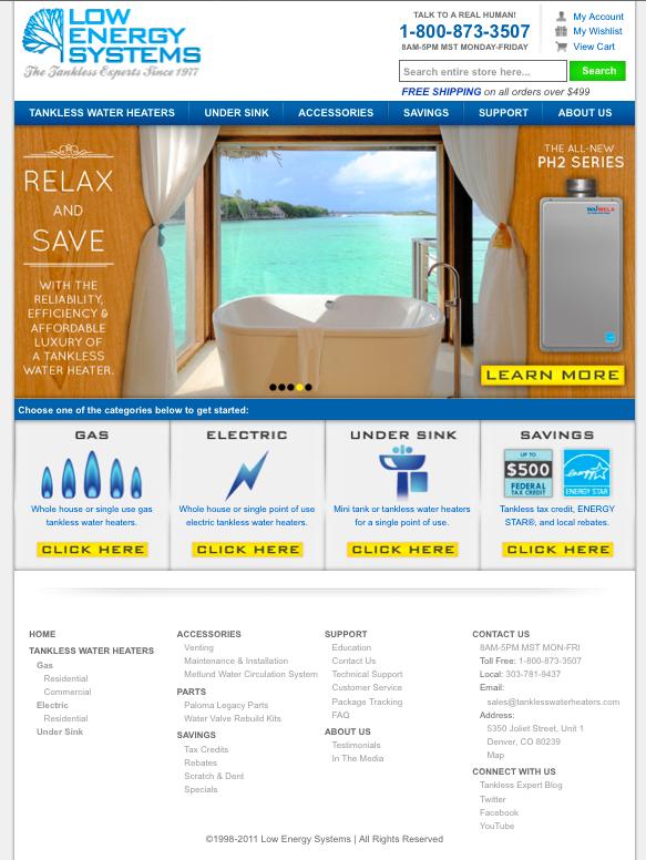 tanklesswaterheaters.com screenshot