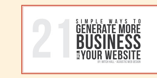 Bebas Neue Font Example - 21 Simple Ways to Genereate More Business With your Website Cover