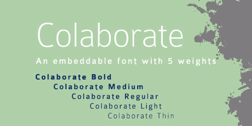 Colaborate Font Example