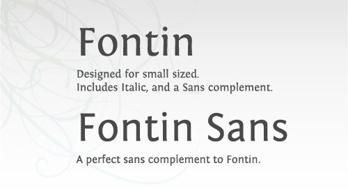 Fontin and Fontin Sans Font Example