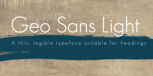 Geo Sans Light Example