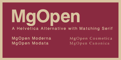 MgOpen Font Example