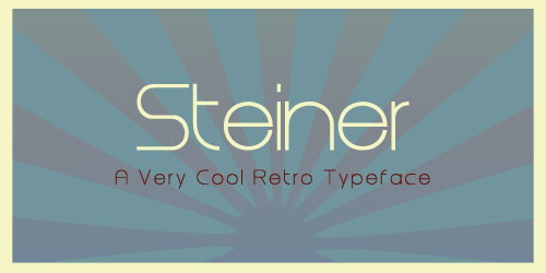 Steiner in Use Font Example