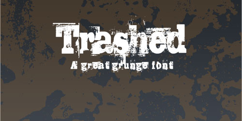Trashed Font Example