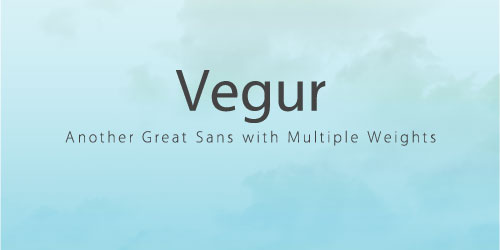 Vegur in Use Font Example