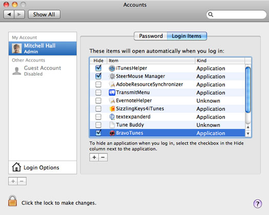 Creating Start Up Items In Mac Os X Acoustic Web Design